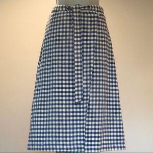 Zara Trafaluc Check Midi Wrap Skirt